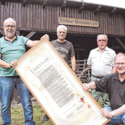 Übergabe Urkunde Molzbergbad